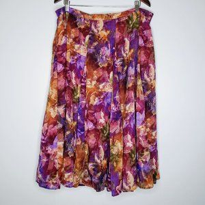 NWT Coldwater Creek Floral Pattern Lined Skirt 2X